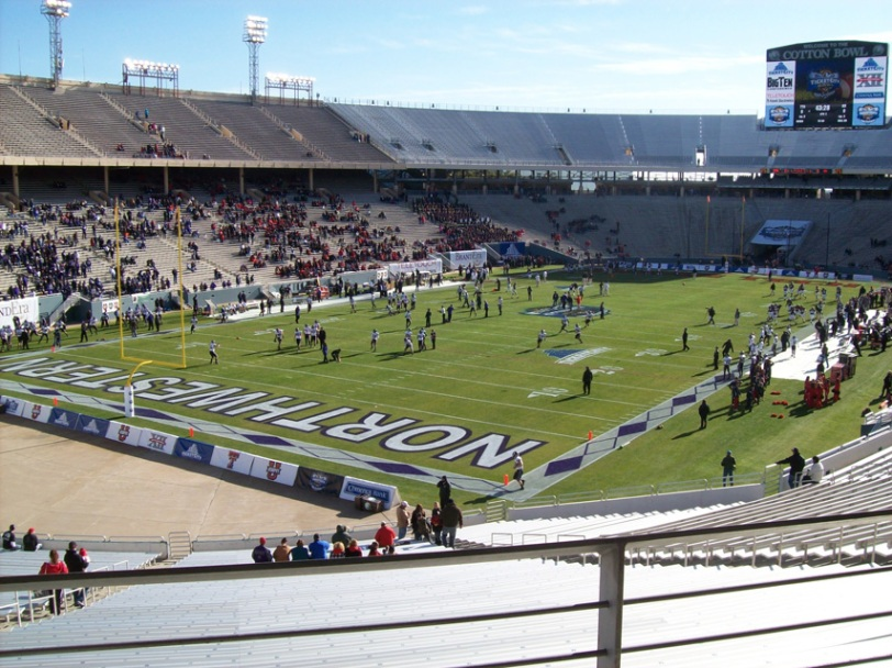 The Cotton Bowl, today the home of the inaugural TicketCity Bowl