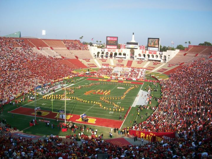 The Los Angeles Memorial Coliseum. (RoadTripSports.com photo by Chuck Cox)