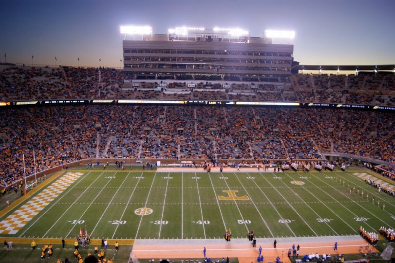 Neyland Stadium, home of the Tennessee Volunteers. (RoadTripSports.com photo by Kendall Webb)