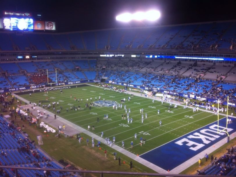 Bank of America Stadium in Charlotte, N.C., the home of the Belk Bowl. (RoadTripSports.com photo by Chuck Cox)