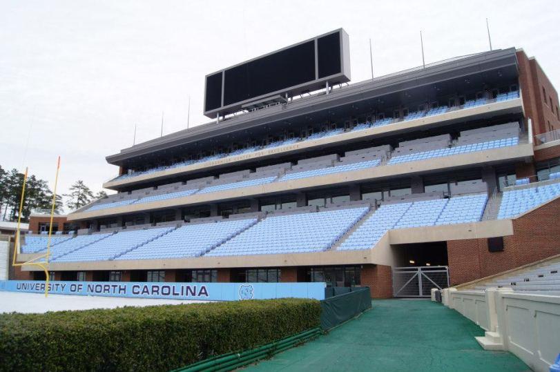 Kenan Memorial Stadium, the home of North Carolina football. (RoadTripSports.com photo by Chuck Cox)
