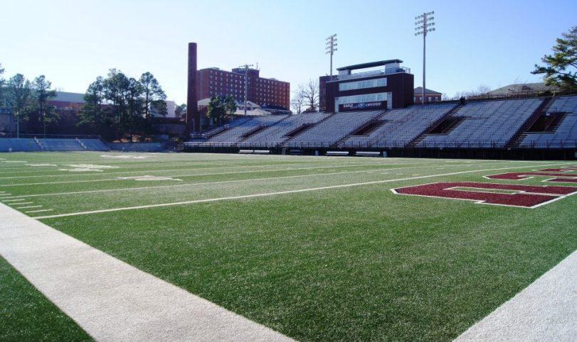 O'Kelly-Riddick Stadium, the home of North Carolina Central University football. (RoadTripSports.com photo by Chuck Cox)