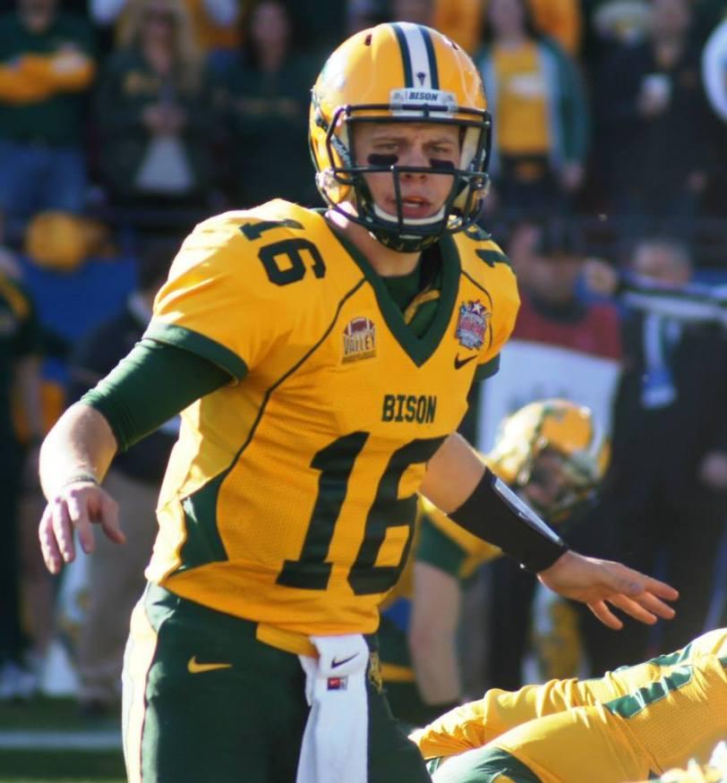 North Dakota State quarterback Brock Jensen. (College Football America and RoadTripSports photo by Chuck Cox)