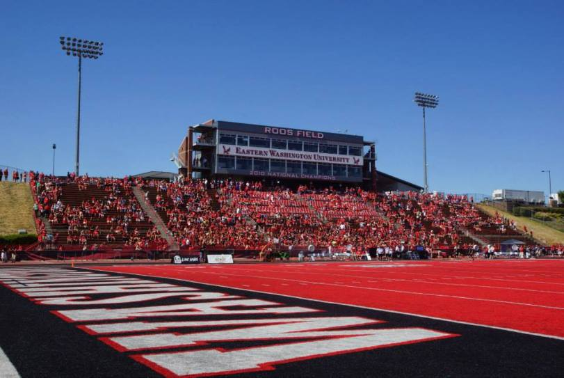 Roos Field (The Inferno), the home of the Eastern Washington Eagles in Cheney, WA. (RoadTripSports photo by Kendall Webb)