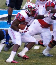 Western Kentucky running back Leon Allen runs the football against Middle Tennessee on Sept. 13, 2014. (RoadTripSports photo by Chuck Cox)