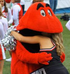Big Red, the mascot for Western Kentucky University. (RoadTripSports photo by Chuck Cox)