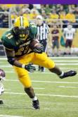 North Dakota State running back John Crockett runs the football the Bison's game with Montana on Sept. 20, 2014. (RoadTripSports photo by Matthew Postins)