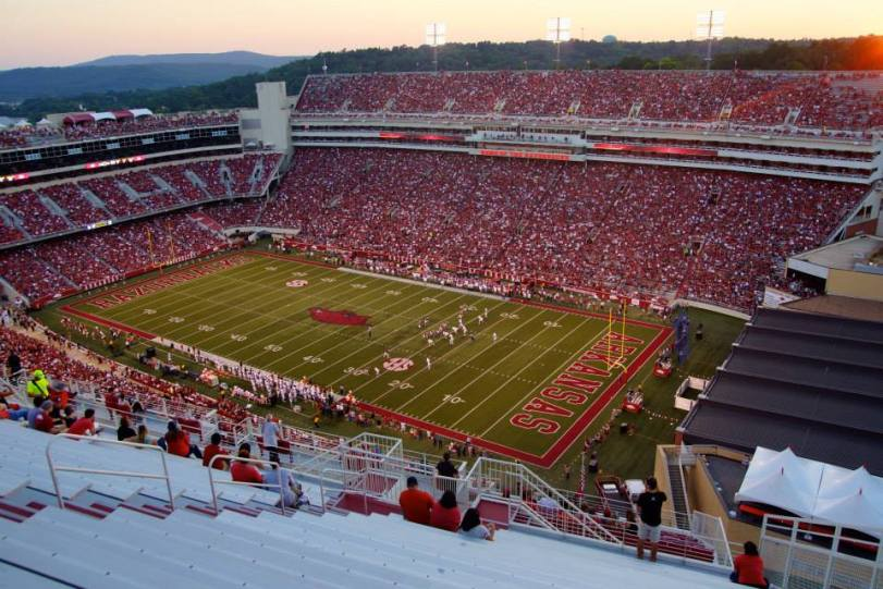 Donald W. Reynolds Razorback Stadium in Fayetteville, AR. (RoadTripSports photo by Kendall Webb)