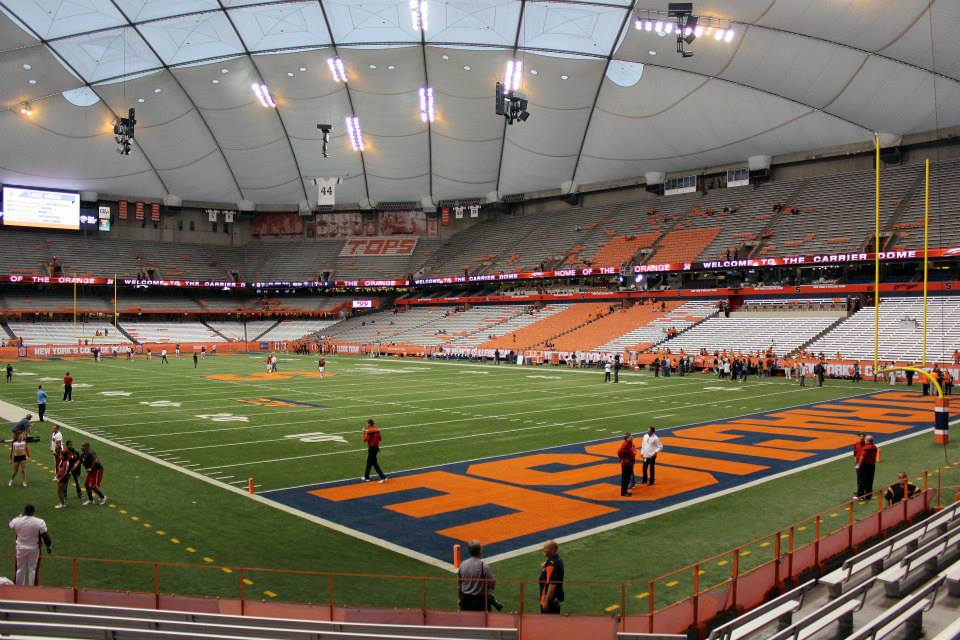 Carrier Dome Postins Postcards A Life On The Sports Road