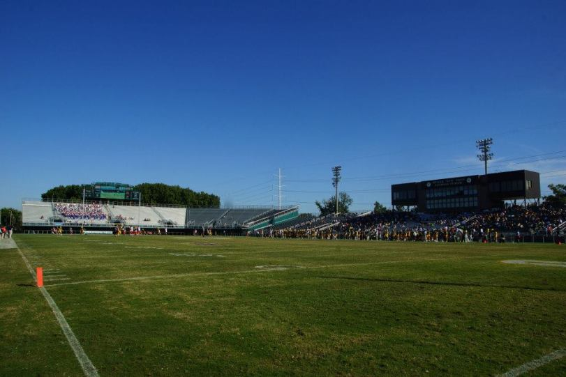Dick Price Stadium, the home of Norfolk State University football (RoadTripSports photo by Kendall Webb)