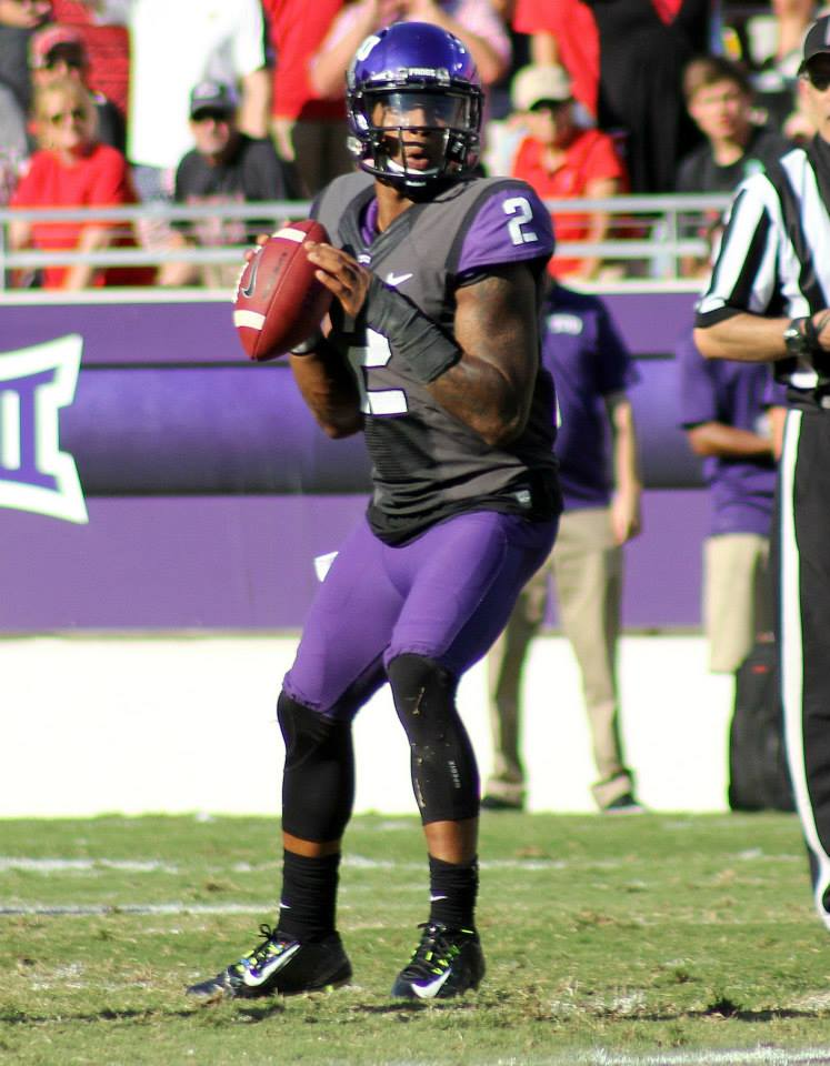 TCU quarterback Trevone Boykin, a new name to track this week on the College Football America Heisman Watch. (RoadTripSports photo by Matthew Postins)