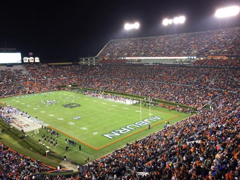 Jordan-Hare Stadium, the home of Auburn football. (RoadTripSports photo by Kendall Webb)