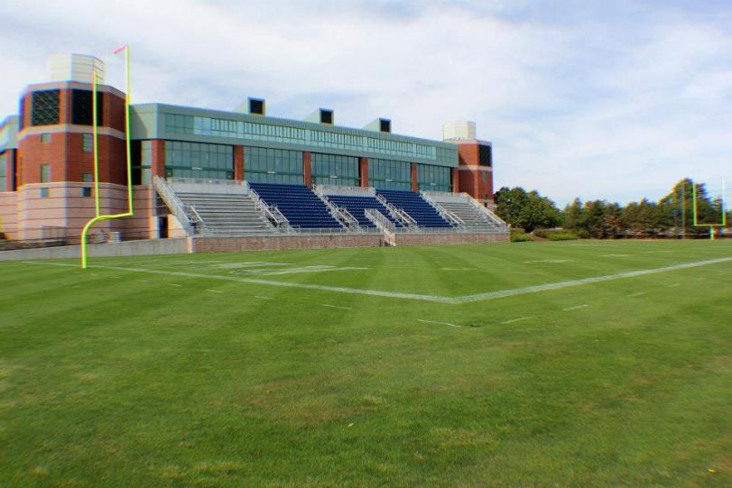 Meade Stadium, home of the University of Rhode Island Rams. (RoadTripSports photo by Matthew Postins)