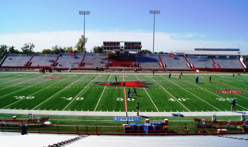 Houck Stadium, the home of Southeast Missouri State Redhawks football. (RoadTripSports photo by Chuck Cox)