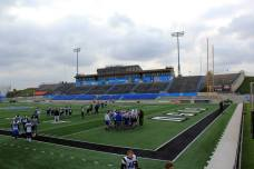Lubbers Stadium, the home of the Grand Valley State Lakers. (RoadTripSports photo by Matthew Postins)