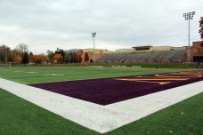 Sprinkle-Sprandle Stadium, the home of Albion College football. (RoadTripSports.com photo by Matthew Postins)
