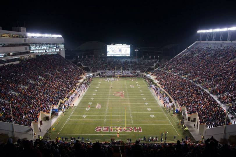 Lane Stadium, the home of Virginia Tech football. (RoadTripSports photo by Kendall Webb)