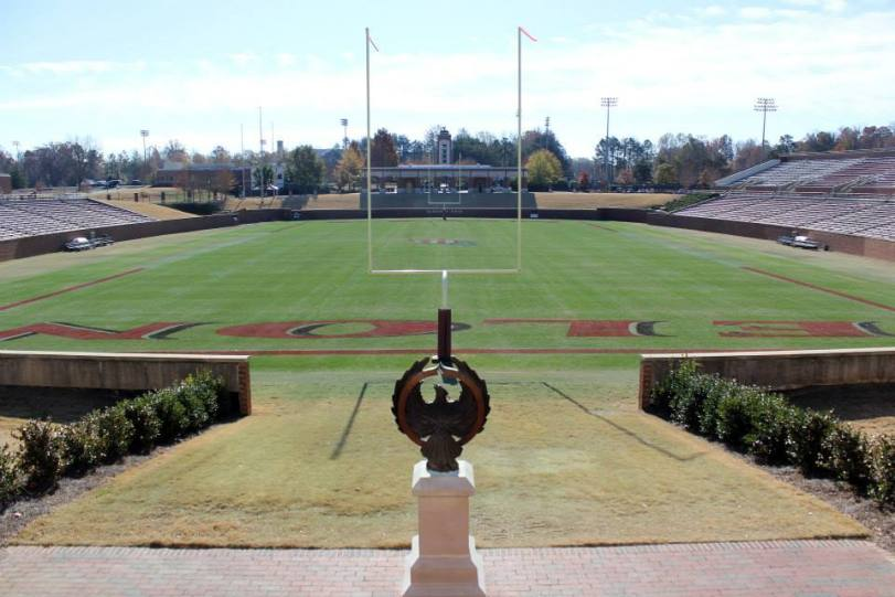 Rhodes Stadium, the home of Elon University football. (RoadTripSports photo by Matthew Postins)