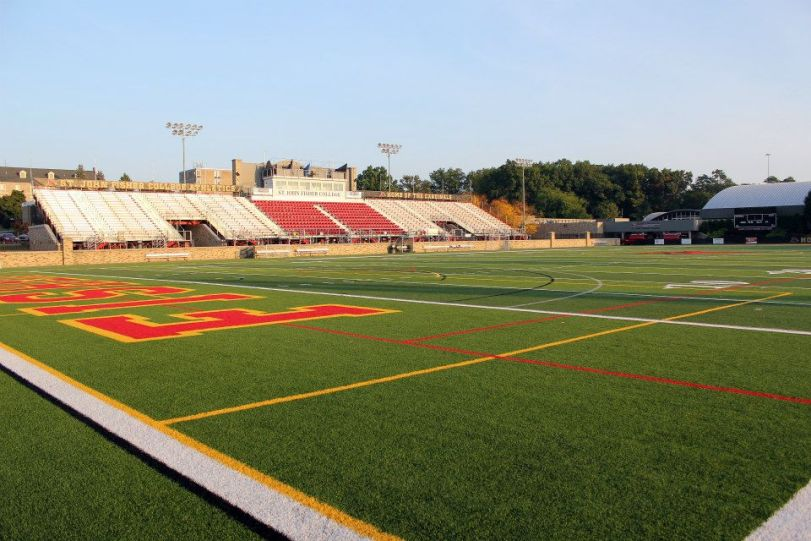 Growney Stadium, the home of St. John Fisher University. (RoadTripSports photo by Matthew Postins)