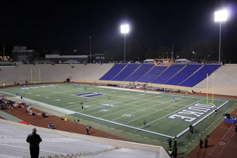 Wallace Wade Stadium, the home of the Duke Blue Devils. (RoadTripSports photo by Matthew Postins)