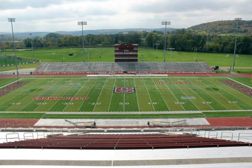 Crown Field at Andy Kerr Stadium, the home of the Colgate Raiders. (RoadTripSports photo by Matthew Postins)
