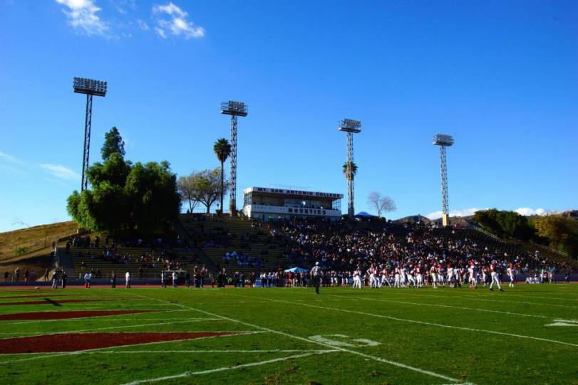 Hilmer Lodge Stadium, on the campus of Mount San Antonio College. (RoadTripSports photo by Kendall Webb)