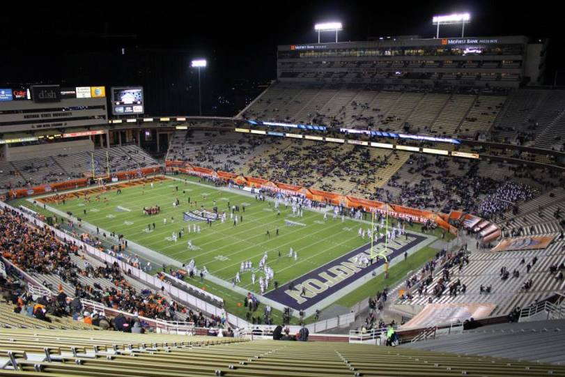 Sun Devil Stadium, the home of the Cactus Bowl, played in 2015 between Oklahoma State and Washington. (RoadTripSports photo by Matthew Postins)