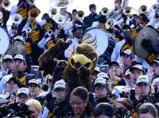 Seymour d'Campus performs with the Southern Miss band on Oct. 4, 2014 in Murfreesboro, TN. (RoadTripSports photo by Kendall Webb)