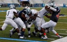 Players from Clay-Chalkville and Blackman compete on Aug. 22, 2015, in Murfreesboro, TN. (RoadTripSports photo by Kendall Webb)