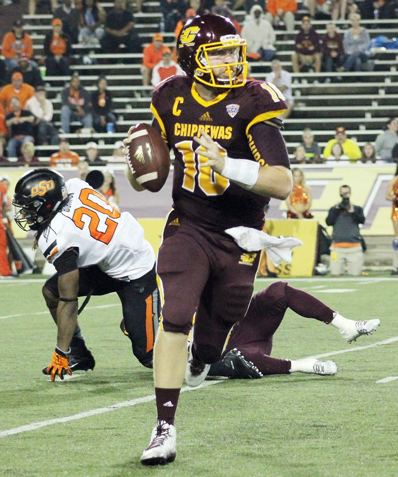 Central Michigan quarterback Cooper Rush. (RoadTripSports photo by Matthew Postins)