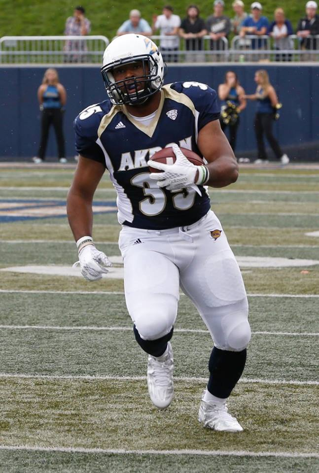 Akron's Newman Williams (RoadTripSports photo by Kendall Webb)