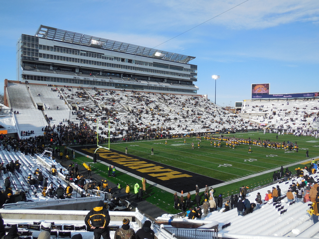 Kinnick Stadium, the home of the Iowa Hawkeyes. (RoadTripSports photo by Kendall Webb)