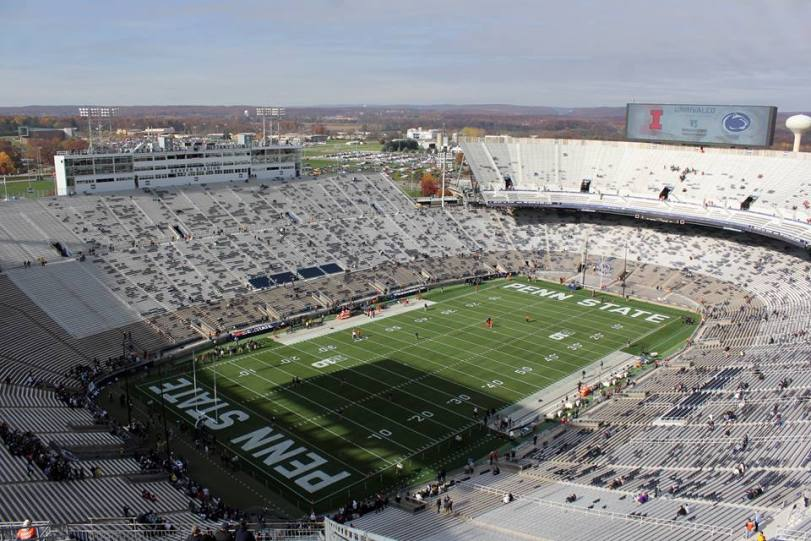 Beaver Stadium, the home of Penn State football. (RoadTripSports photo by Matthew Postins)