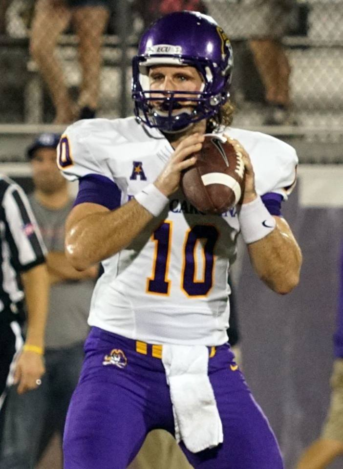 East Carolina quarterback Blake Kemp. (RoadTripSports photo by Chuck Cox)