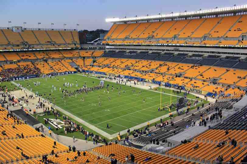 Heinz Field, the home of the Pittsburgh Panthers. (RoadTripSports photo by Matthew Postins)