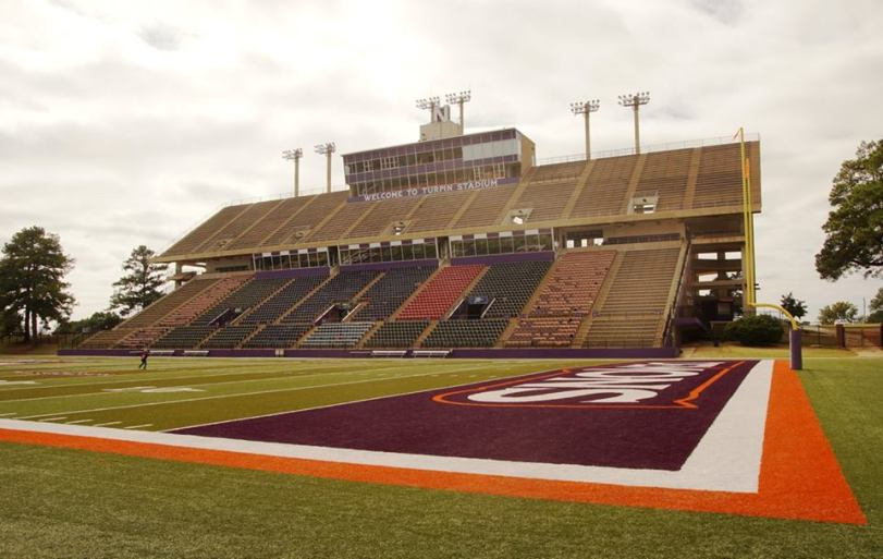 Turpin Stadium, the home of Northwestern State (LA) football. (RoadTripSports photo by Chuck Cox)