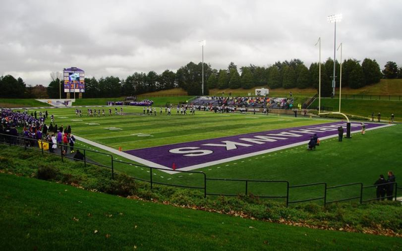 Perkins Stadium, the home of the UW-Whitewater Warhawks. (RoadTripSports photo by Chuck Cox)