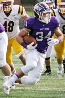 Mount Union senior running back Logan Nemeth. (RoadTripSports photo by Matthew Postins)
