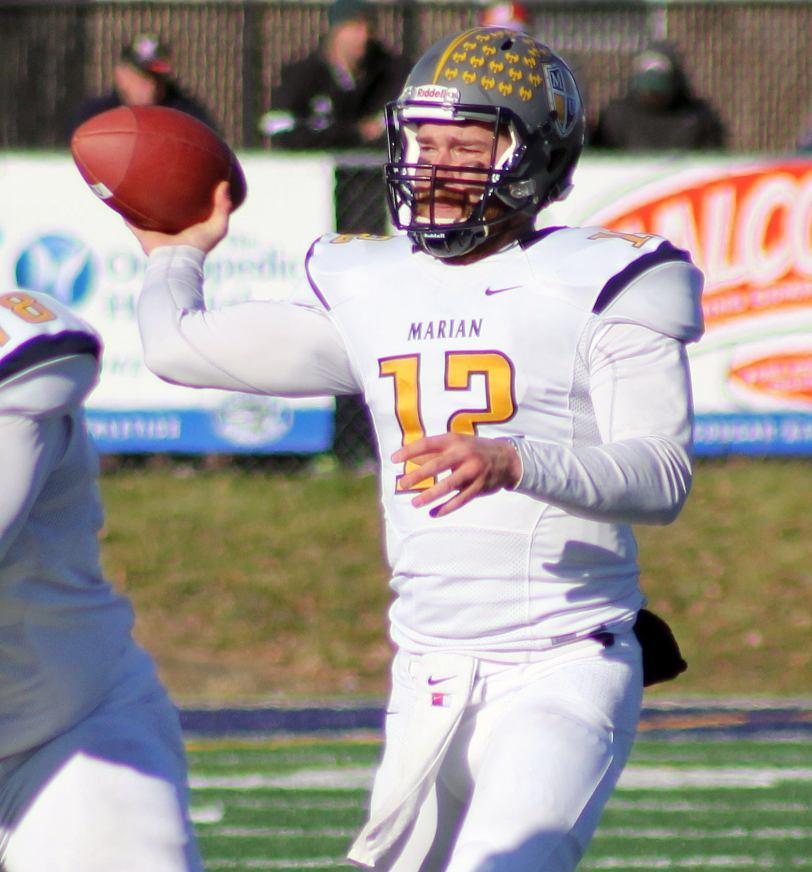 Marian quarterback Hayden Northern. (RoadTripSports photo by Matthew Postins)