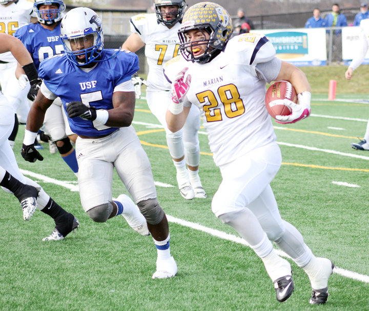 Marian running back Robert Gibson (RoadTripSports photo by Matthew Postins)