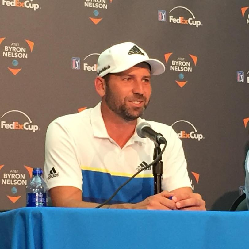 Sergio Garcia, winner of the 2016 AT&T Byron Nelson. (Photo by Matthew Postins)