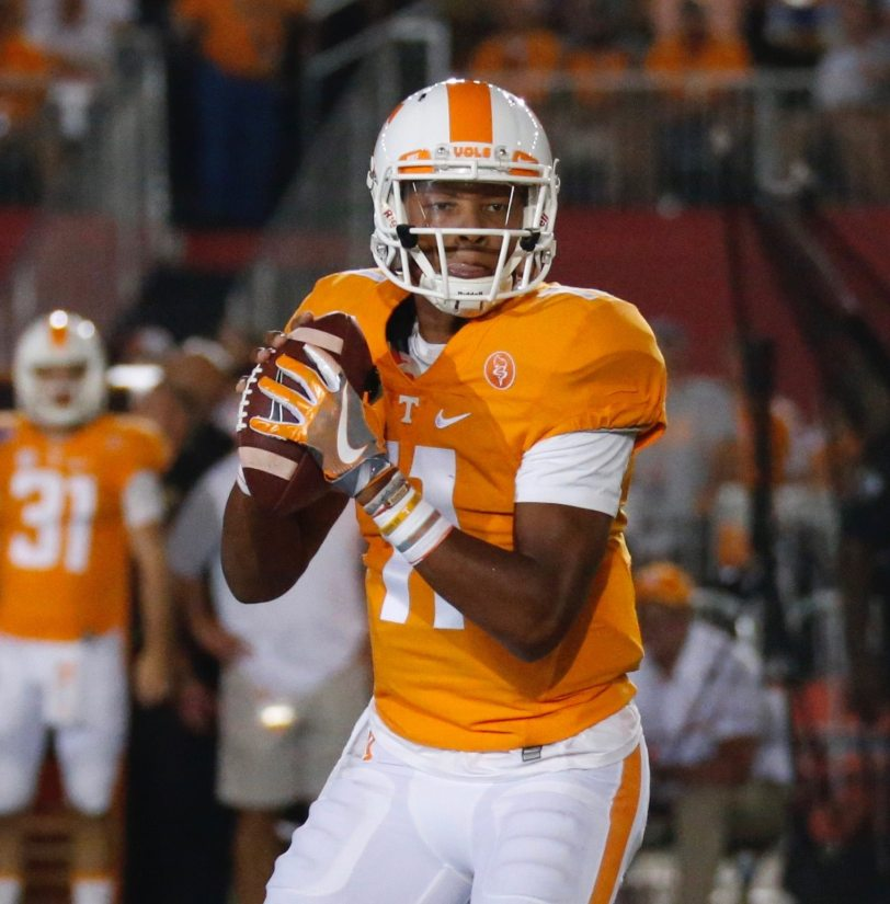 Tennessee QB Josh Dobbs (RoadTripSports photo by Kendall Webb)